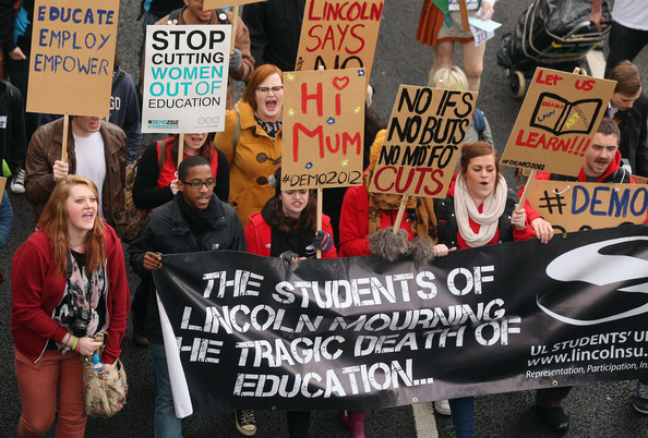 Thousands of students marched to protest education cuts