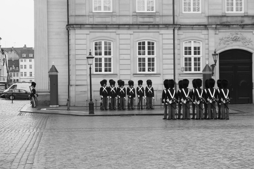 The Changing of the Guard, Amalienborg Palace